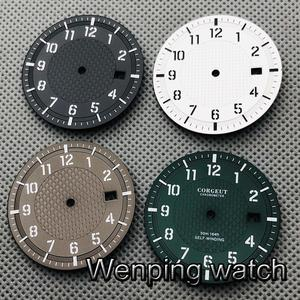 CORGEUT 34mm sterile watch dial luminous dial for NH35 NH36 movement