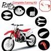 Kit de carénage en plastique pour Motocross garde-boue avant et arrière couverture de frein à disque plaque latérale plaque d'immatriculation pour Honda CRF250R CRF450R CRF 250 450