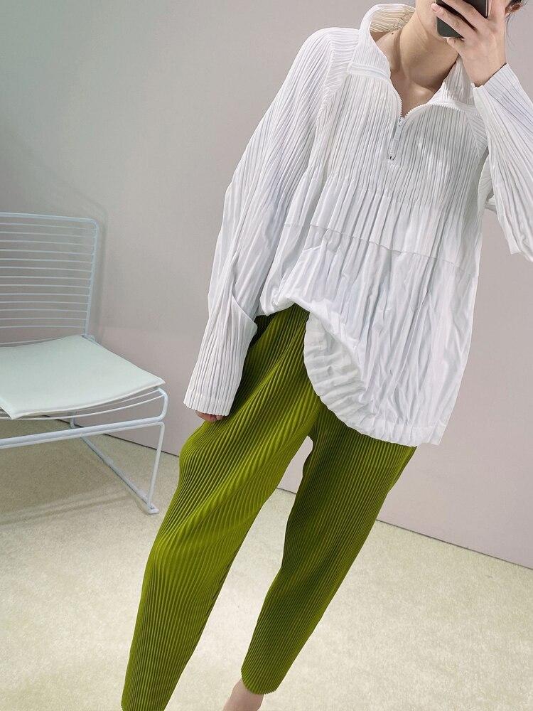 Changpleat осенние новые женские плиссированные толстовки miяка, белые модные свободные женские толстовки с длинным рукавом