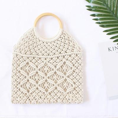 Nuevo bolso de paja, nuevo bolso de mujer portátil ins mismo párrafo, bolso tejido de playa, elegante, estilo coreano, moda, simple, bolso de viaje hueco