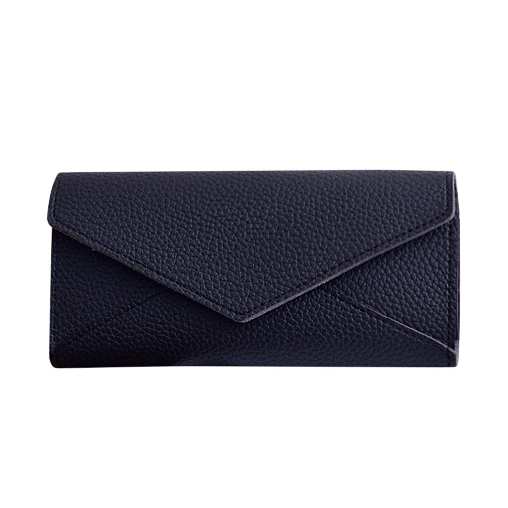 Women Packet Fashion Women's Solid Color Long Clutch Bag Leather Card Bag Wallet Phone Bag Mobile Ph