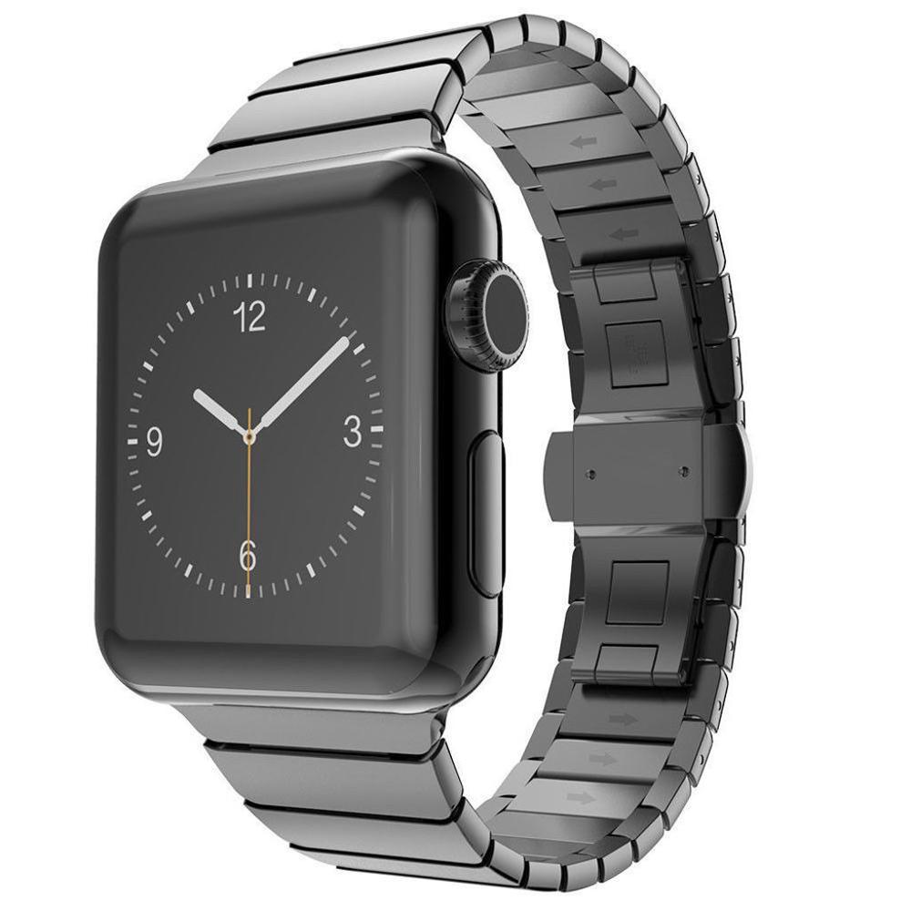 Correa para apple watch band 5series44mm 40mm iwatch4 banda 42mm 38mm pulsera de eslabones de acero inoxidable correa de metal apple watch 3 2