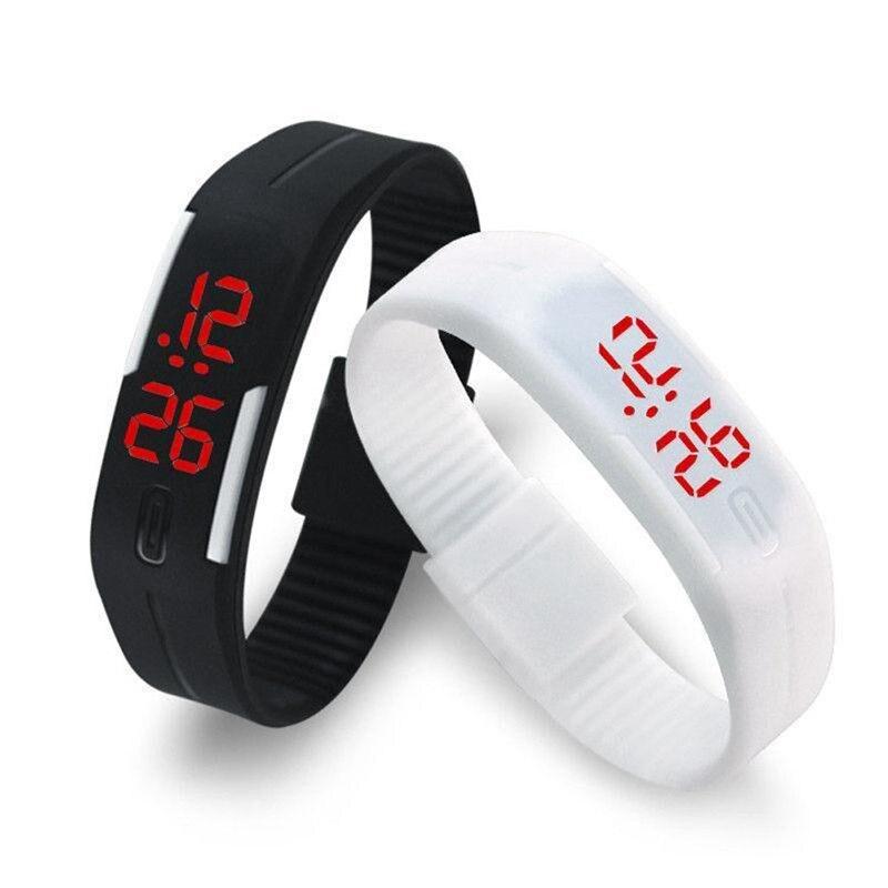 2016 Candy Farbe frauen der männer Uhr Gummi LED kinder Uhren Datum Armband Digital Sport Armbanduhr für schüler