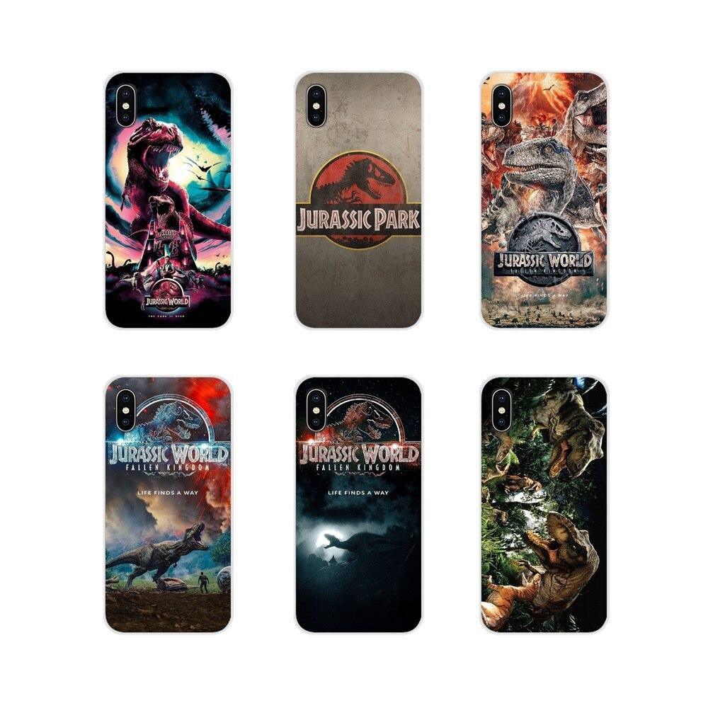 Caso de saco macio transparente para apple iphone x xr xs 11pro max 4S 5S 5c se 6 s 7 8 plus ipod touch 5 6 jurássico parque dinossauro mundo