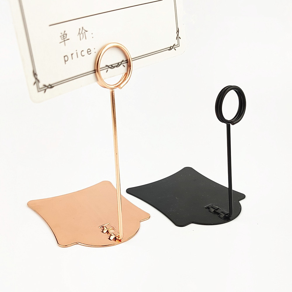 POP Metal Price Tag Paper Sign Label Card Display Clips Clamp Holders Stand For Stores Promotions 4 Colors 10pcs