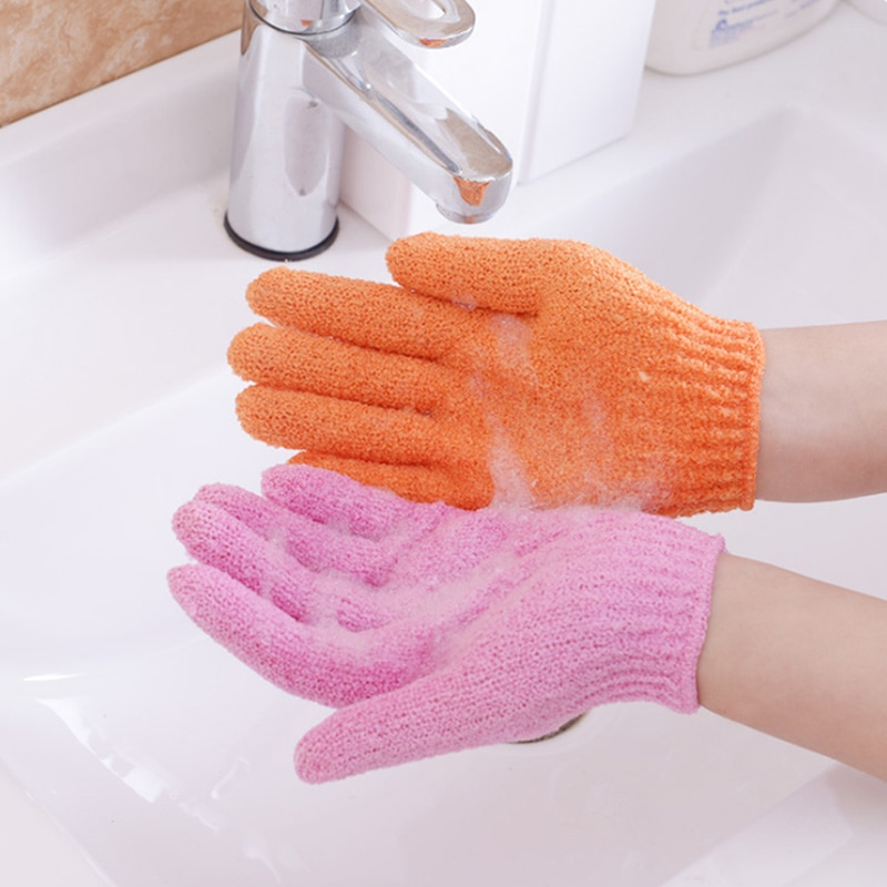 Cinco dedos, guantes de toalla, baño, ducha, colores dulces, corporal de baño, piel, Spa, baño, depurador, cepillo de limpieza, amenidades de baño, Multicolor-30