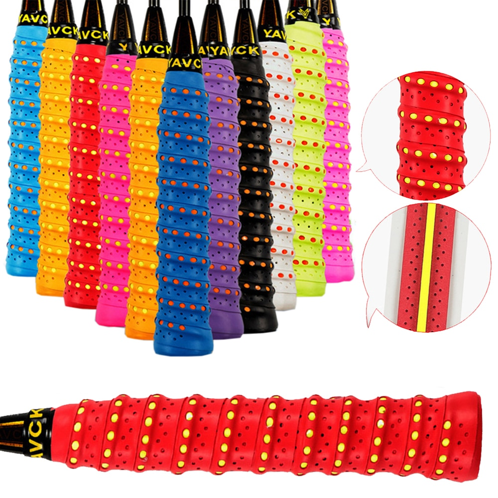 Hot 1*Grip Tape Anti-slip Absorb Sweat Racket Tape Handle Grip Tennis Badminton Squash Band Anti-ski
