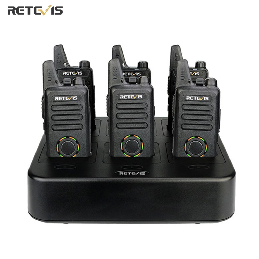 Retevis RT22S البسيطة اتجاهين راديو اسلكية تخاطب 6 قطعة + السداسية شاحن VOX حر اليدين فندق/مطعم/سوبر ماركت اسلكية اسلكي