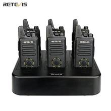 Портативная мини рация Retevis RT22S, двусторонняя, 6 шт. + шестистороннее зарядное устройство, VOX, свободные руки, для отеля/ресторана/супермаркета