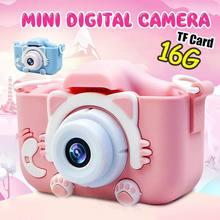 Mini caméra pour enfants 2.0 pouces mignon chat HD appareil photo numérique éducation jouets garçons filles meilleur anniversaire cadeau de noël pour les enfants