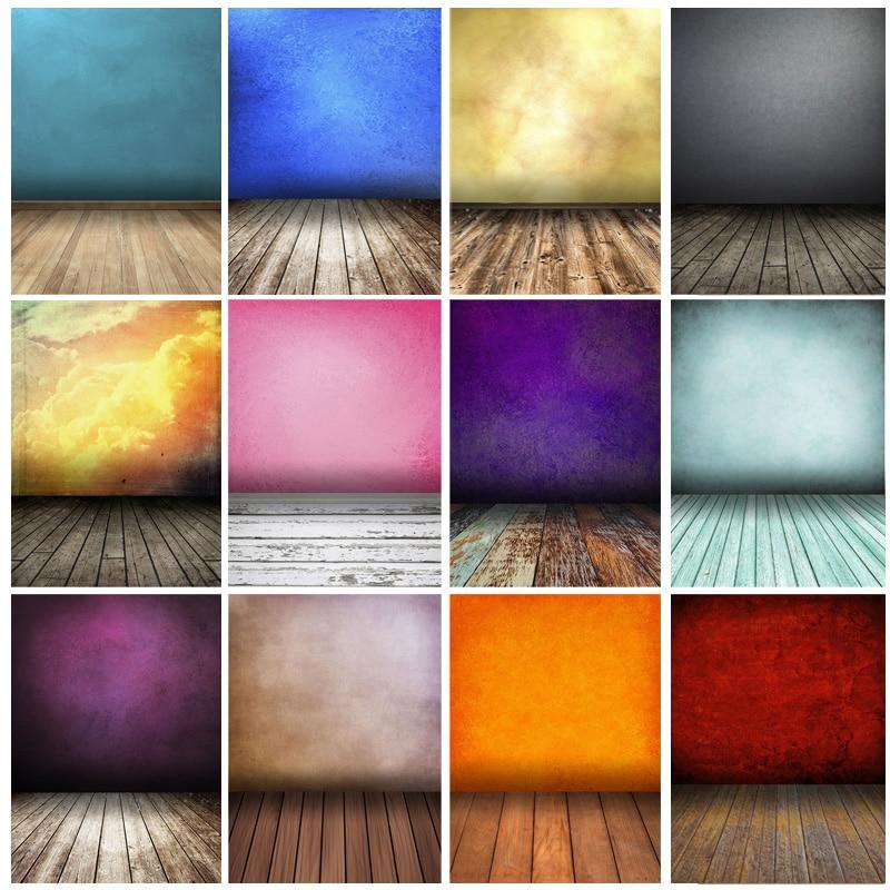 Винтажные градиентные однотонные фоны для фотосъемки реквизит кирпич стена деревянный пол детский портрет фото фоны 210125MB-29