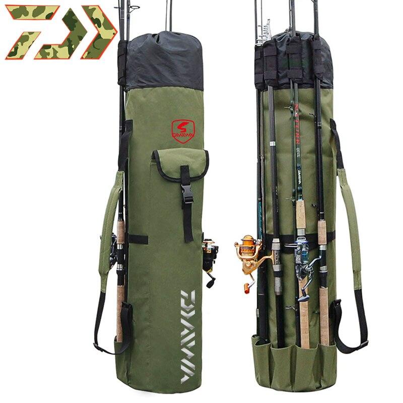 2020 bolsas de pesca DAWA portátil multifunción Nylon caña de pescar bolsa caja Daiwa plegable herramientas de aparejos de pesca bolsa de almacenamiento