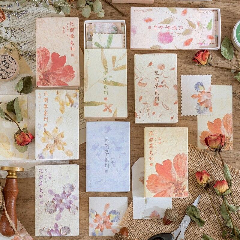 Винтажные блокноты Yoofun с изображением агемемо, цветочные блокноты, трава, блокноты, декоративная бумага для скрапбукинга, журналов, «сделай...