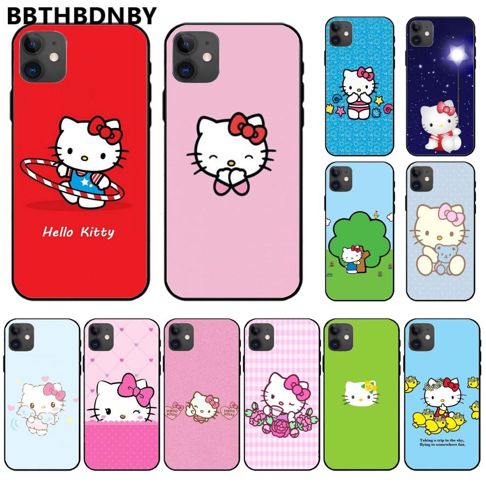 -Hola.-kitty de lujo diseño único de la cubierta del teléfono para iphone 11 pro max x xs x xr 7 7 plus 6 6s 5 5 5S 5se