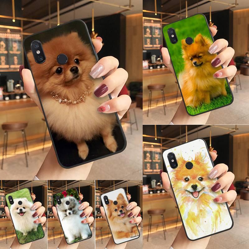 Yinuoda pomeranian cães macio caso de telefone capa para redmi k20 nota 5 7 7a 6 8 pro nota 8t 9 xiaomi mi 8 9 se