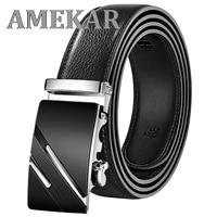 men belt automatic genuine leather luxury black belt mens belts automatic buckle high quality belt cummerbunds male