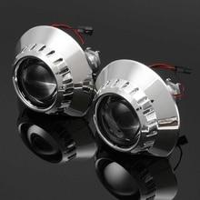 "2X Left Right Car Styling 2.5"" Bi-xenon HID Projector Lens Car Headlight Bulb H1 for BMW E46 M3 Sedan Wagon Coupe"