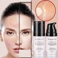 hydrating makeup coverage base primer temperature change liquid foundation cream brighten waterproof liquid foundation tslm1