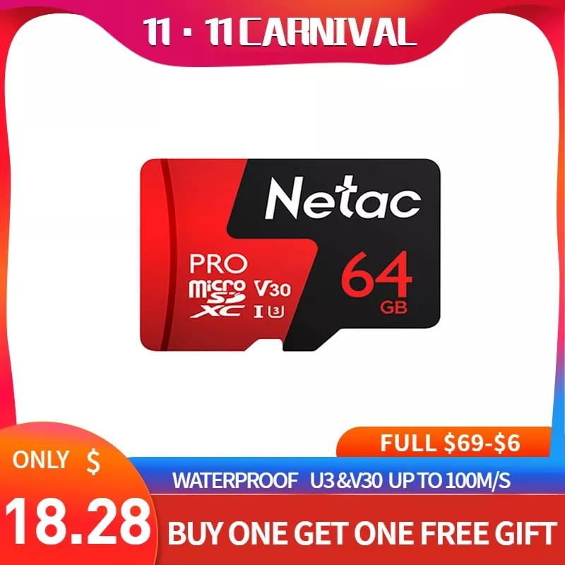 Netac UHS-I P500 מיקרו Sd כרטיס 128gb tf Karte class10 פלאש-speicherkarte Aufnahme מלא HD וידאו & 4 קראט Ultra HD וידאו מצלמה
