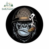 earlfamily 13cm for gorilla motorcycle car stickers vinyl material decal fashion decals creative occlusion scratch for jdm suv
