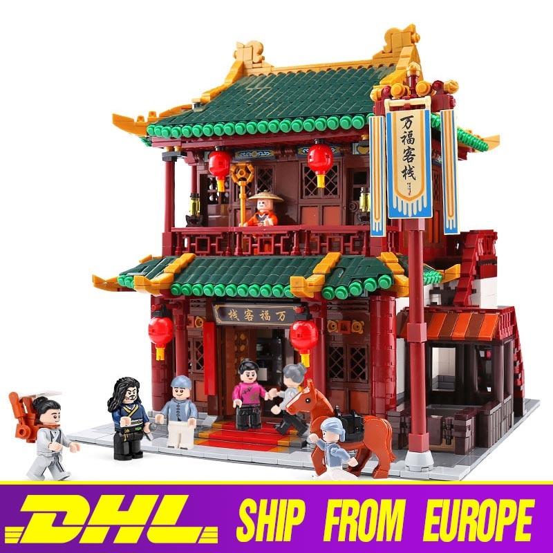 Zhonghua Street Building 01022 el Wanfu Inn Set Xingbao arquitectura bloques de construcción ladrillos modelo de juguete para niños