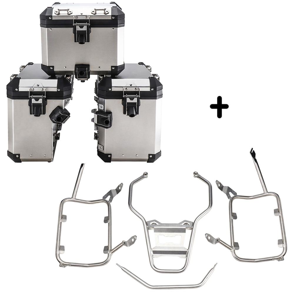 Para R1250GS R1200GS LC ADV las maletas de acero inoxidable Rack para BMW R 1250 GS R 1200 GS ADV caso superior bastidores