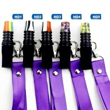Flag Style Reusable Silicone Hookah Mouthpiece Shisha Mouth Tips With Hang Rope Strap Hookah Smoking