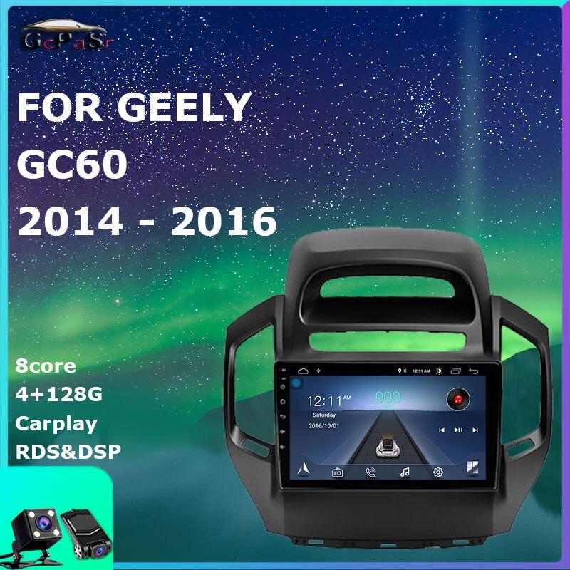 Автомобильный мультимедийный радиоприемник, видеоплеер для Geely GC6 1 2014-2016, Android 10, навигация, GPS, автомобильные аксессуары, DSP IPS