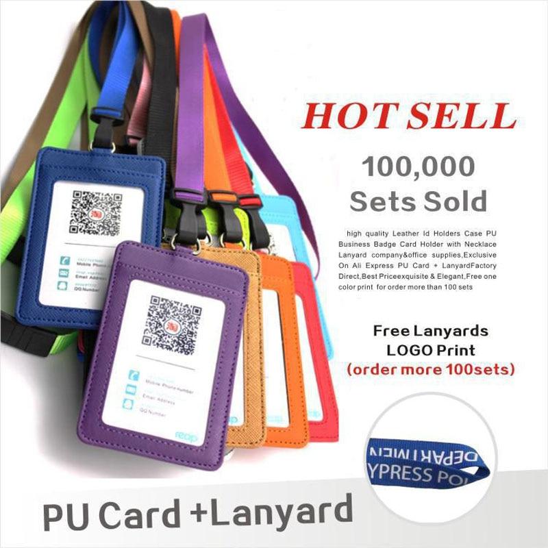 portadores-de-identificacion-de-cuero-pu-porta-tarjetas-con-cordon-de-cadena-logo-estampado-personalizado-material-escolar-y-de-oficina