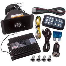 Для сигнализации полиции пожарПредупреждение 400 Вт 8 звуковой сигнал динамик PA MIC Система для Универсальный DC12V