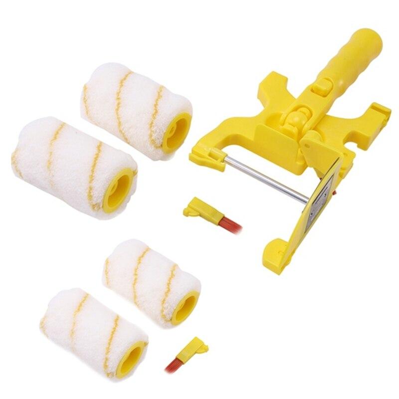 7 قطعة الطلاء المقلم الأسطوانة فرشاة أدوات المحمولة نظيفة قطع فرشاة للمنزل السقوف الجدار