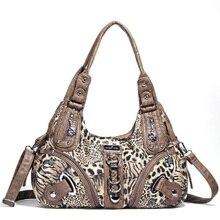 Angelkiss femmes sacs à main léopard sac haut-poignée sac à main mode sacoche boulette sac à bandoulière sac fourre-tout Hobos grand sac à main