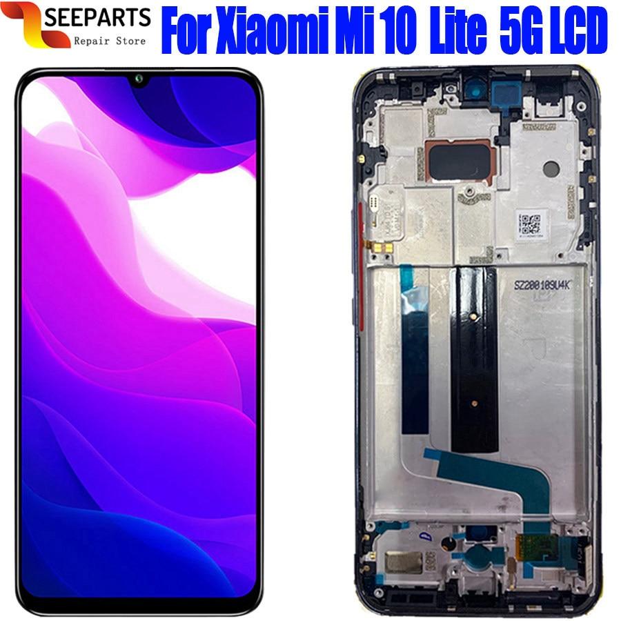 بديل مجمع رقمي لشاشة عرض LCD باللمس مختبر لشاومي Mi 10 Lite M2002J9G Lcd لشاومي Mi 10 Lite 5g Lcd