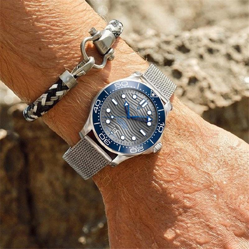NEW PAGANI Design divers watch men Luxury Brand Blue Bracelet Mechanical pilot Waterproof Business Sport Watch montre homme 2021 enlarge