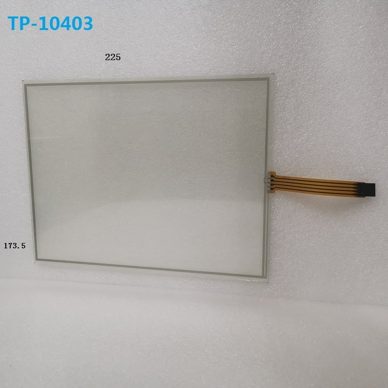 شاشة تحكم صناعية ذات 4 أسلاك تعمل باللمس مقاس 10.4 بوصة ، مقاومة للمس ، بأبعاد 225x173.5 مم ، منطقة اللمس 213x159.9 مم (قسم سميك)