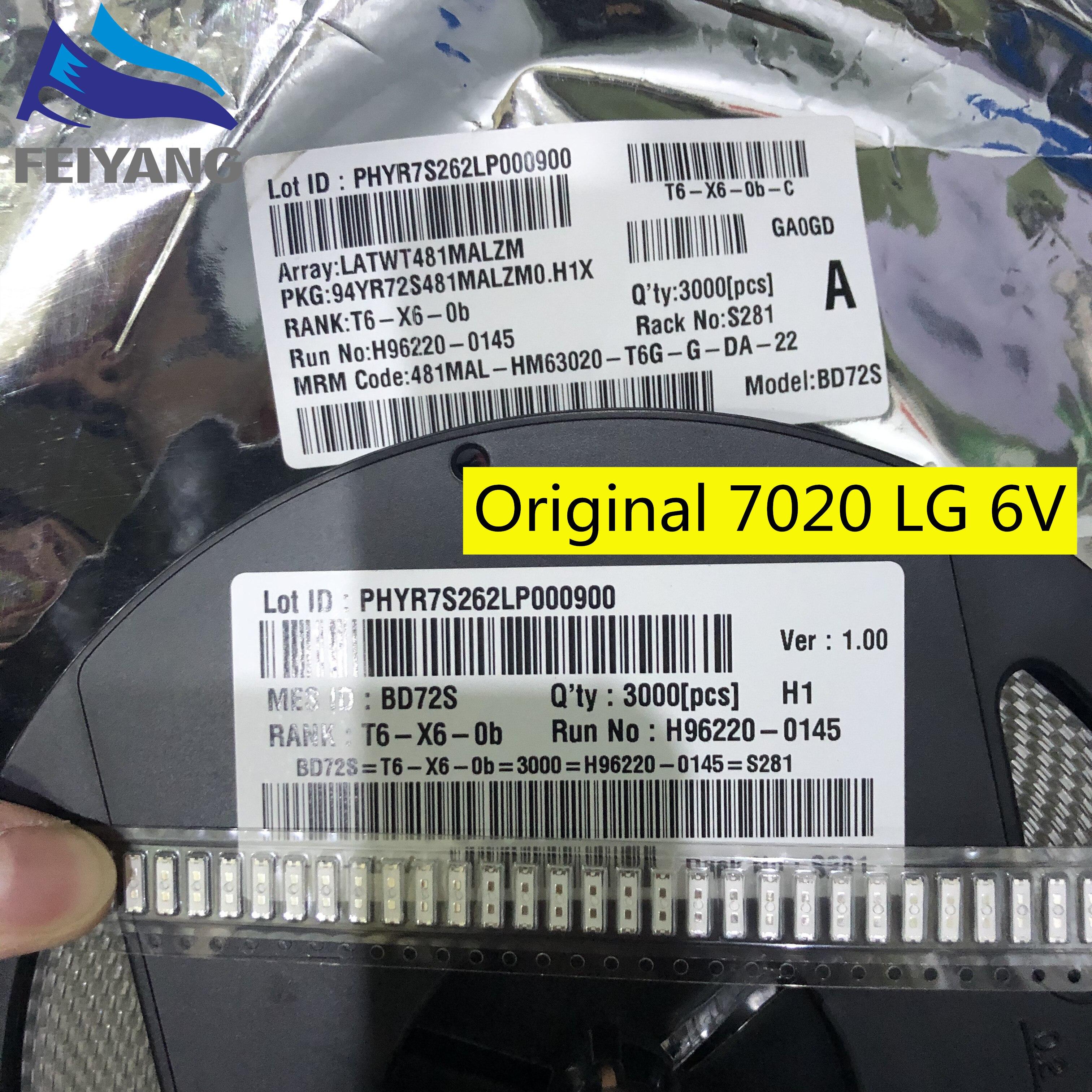 LED especial-2 de 1000 Uds. Para LG, retroiluminación LCD APLICACIÓN DE TV LED de 1W 6V 7020 blanco frío, retroiluminación de TV LCD, aplicación de TV BD72S/BD72C