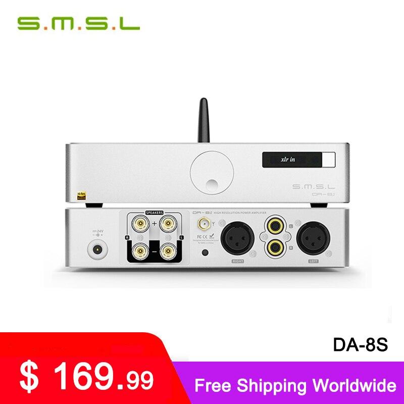 SMSL DA-8s NJW1194 80W كامل متوازن بلوتوث مضخم رقمي DA8S مكبر كهربائي