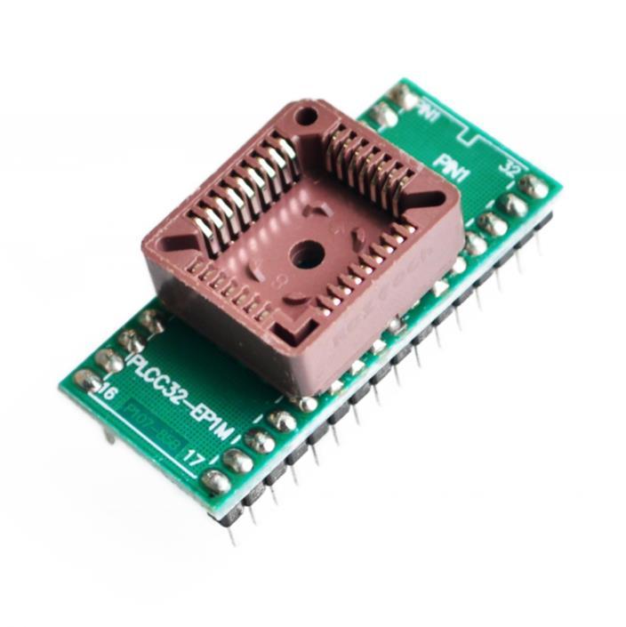 Enchufe adaptador de programador IC PLCC32 a DIP32