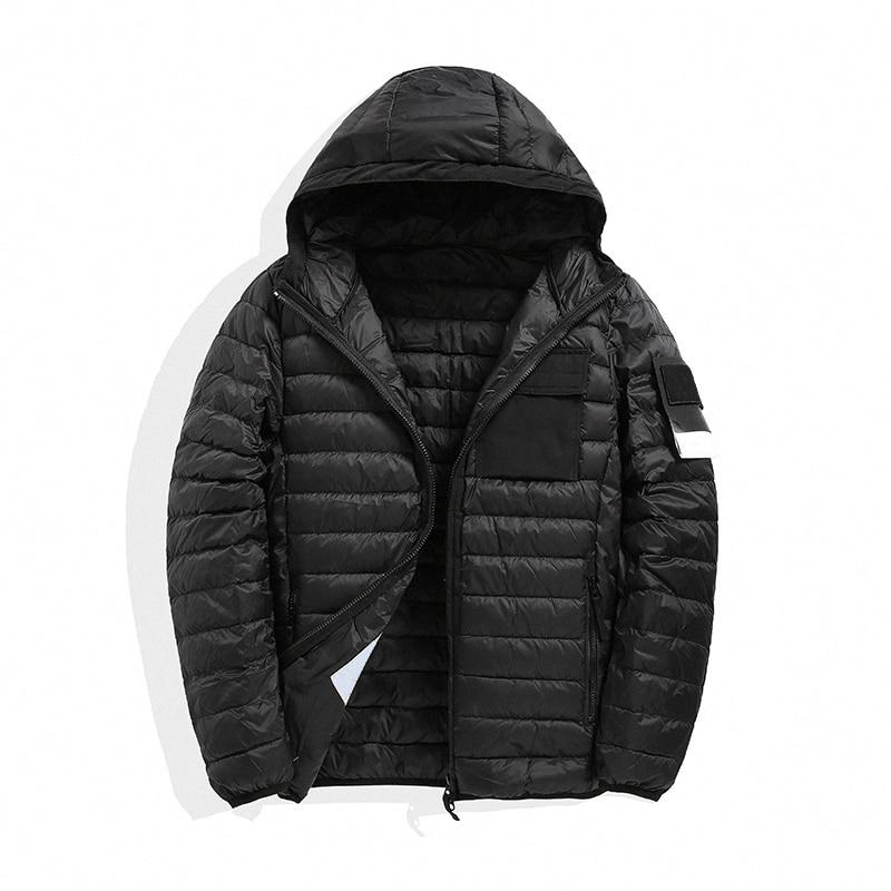 Winter men's down jacket tide brand functional wind hooded down jacket white duck down warm down jacket2021
