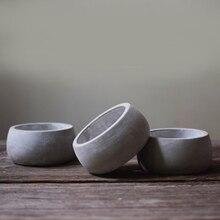 Cement flowerpot silicone mold round pot geometry gypsum flowerpot mould succulent flowerpot mould concrete ashtray mold