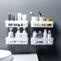 Etagere de rangement pour accessoires de salle de bain  support flottant etanche  decoration de la maison  cuisine  sans perforation  suspension murale H1148