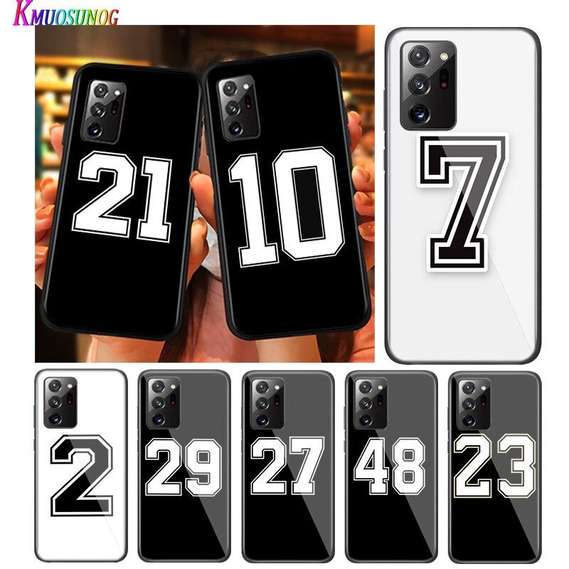 Números de la suerte 23 24 para Samsung Galaxy S20Ultra S20 más S10 Lite A01 A11 A21 A21S A31 A41 A42 A51 A71 A81 5G caja del teléfono