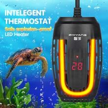 Fish Tank Water Temperature EU US Plug Control Aquarium Heater Submersible Digital Heating Rod With