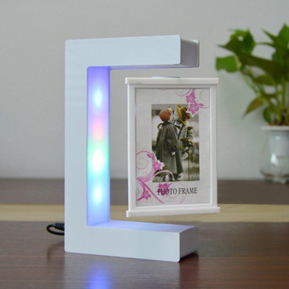 2021 new strange magnetic levitation white photo frame. Magnetic levitation display stand. Suspension ornaments. Birthday gift.