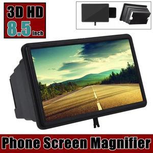 3D Mobile Phone Screen Magnifier Video Amplifier Stereoscopic HD Amplifying Stand Movie Video Desktop Smartphone Amplifier