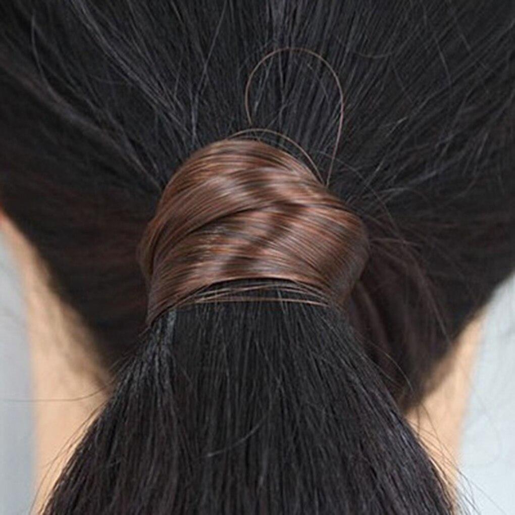 Fashion Girls Headband Elastic Hair Bands Handmade Wig Twist Hairband Rope Girls Elastic Fake Hair Scrunchy Hair Braider Holder