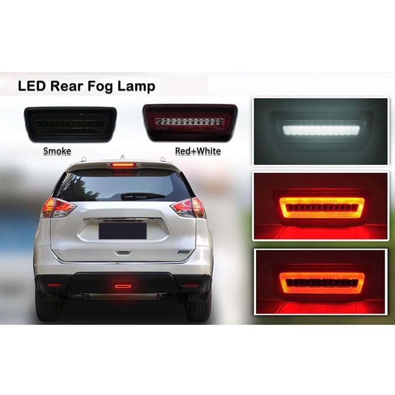 سيارة LED الخلفي الضباب احتياطية عكس ضوء الفرامل مصباح المصد الخلفي لنيسان X-Trail T32 روج جوك مورانو