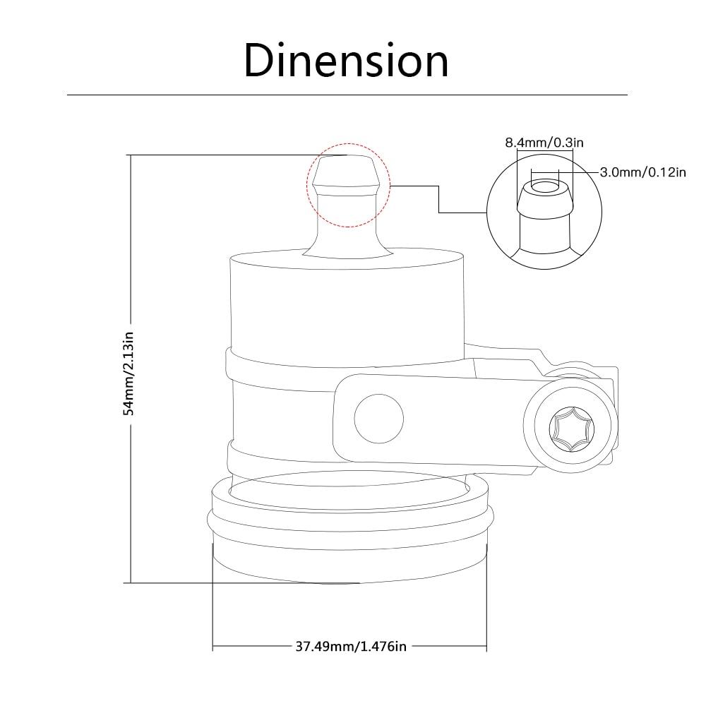 FOR KAWASAKI Z125 z125 Z125PRO Z125 PRO 2015 2016 2017-2018 Universal Motorcycle Brake Fluid Reservoir Clutch Tank Oil Fluid Cup enlarge