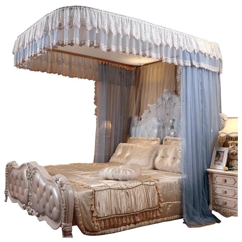 Mosquitera eléctrica de moda para el hogar, polea de riel de cama de 1,8 M, nuevas cortinas gruesas de princesa, mosquitera para cama, decoración del hogar