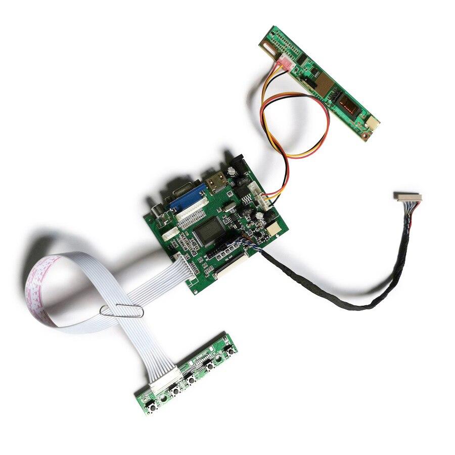 لوحة قيادة وحدة التحكم في مصفوفة 20 دبوس LVDS, VGA + 2AV 1-CCFL fit LTD141EA9F/LTM14C500Z/LTD133ECKF شاشة LCD 1024*768